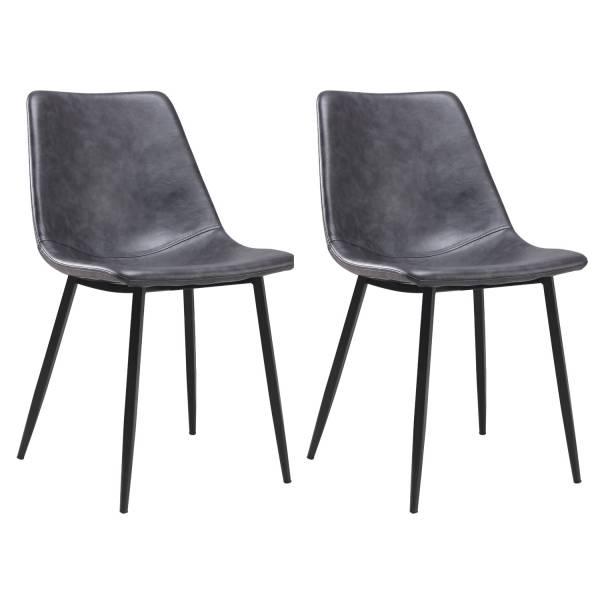 chaises vintage élia grises