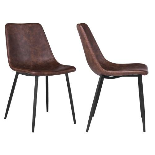 Lot de 2 chaises vintage ÉLIA marron