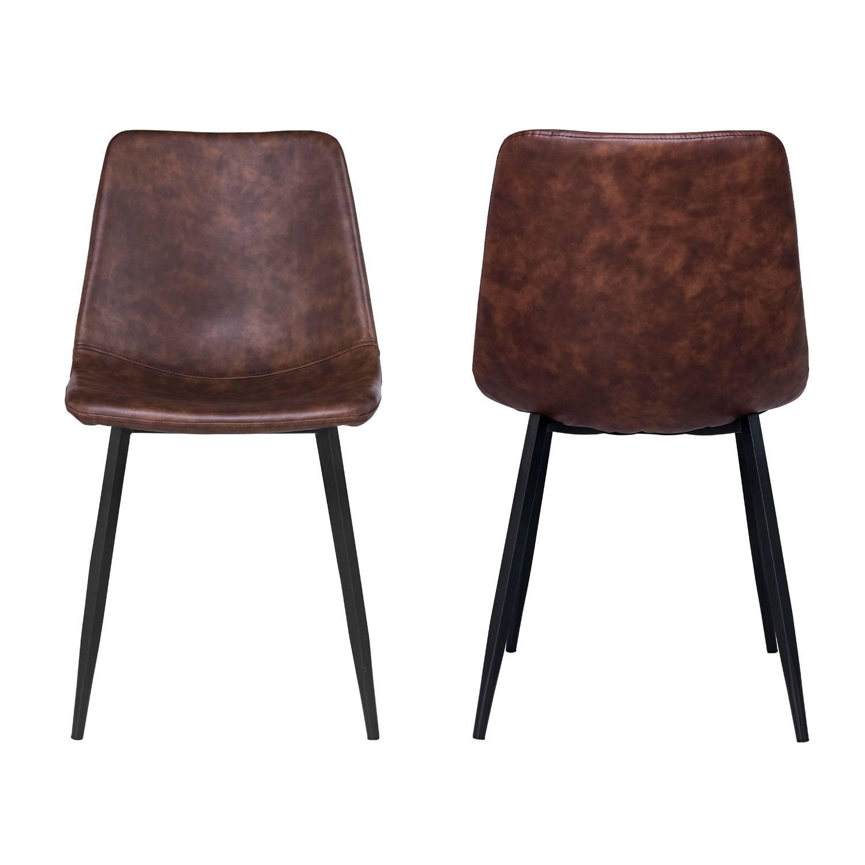 Lot de 2 chaises vintage ÉLIA marron
