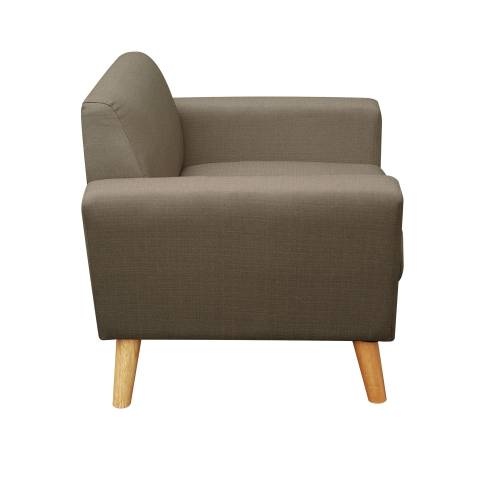 Fauteuil scandinave ADEL taupe