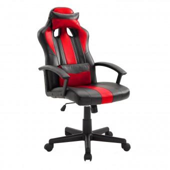 Fauteuil de bureau gamer noir et rouge CRASH
