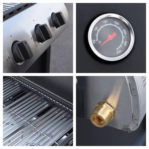 Cook'in Garden - Barbecue au gaz HAWAÏ - 3 brûleurs 8,4kW