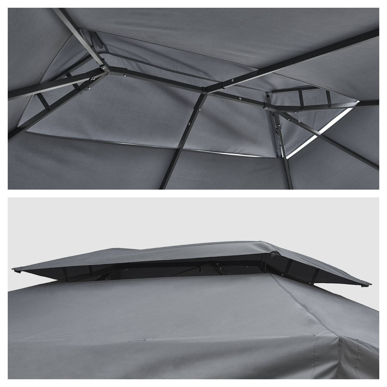 Tonnelle autoportante 3x4m ANTIBES grise - structure aluminium