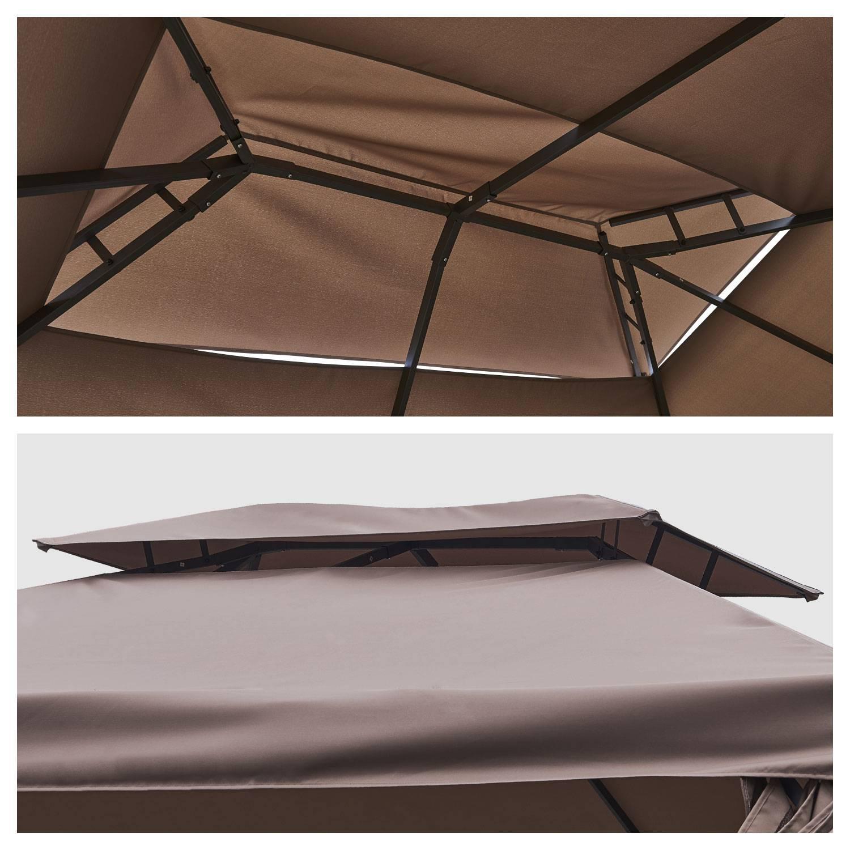 Tonnelle autoportante 3x4m ANTIBES taupe - structure aluminium