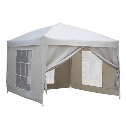 Tente de réception MISTRAL pliante 3x3m Beige avec panneaux