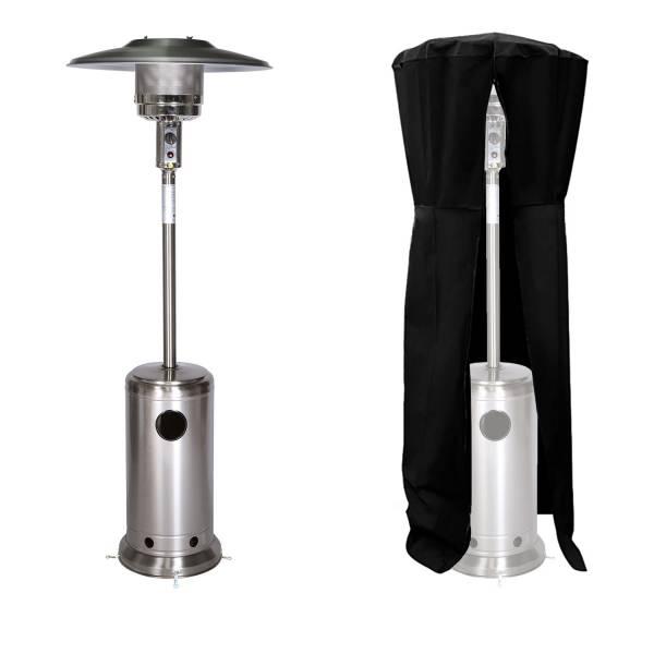 parasol chauffant gaz acier inox housse. Black Bedroom Furniture Sets. Home Design Ideas