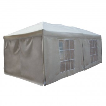 Tente de réception MISTRAL pliante 3 × 6m Beige avec panneaux