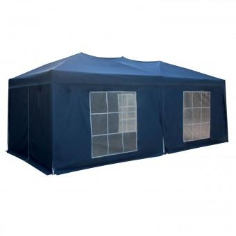 Tente de réception MISTRAL pliante 3 × 6m bleu avec panneaux