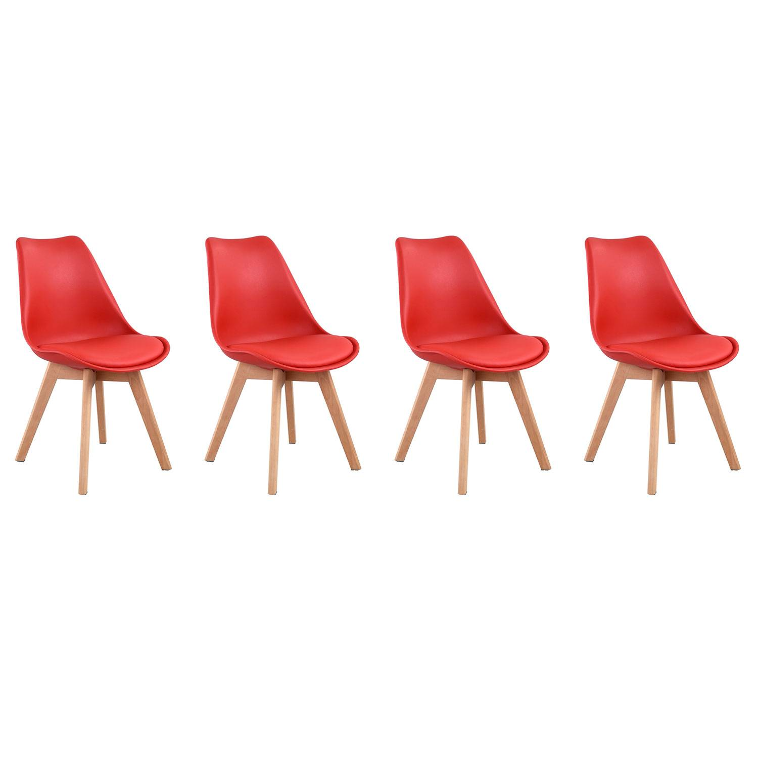 Chaises scandinaves rouges