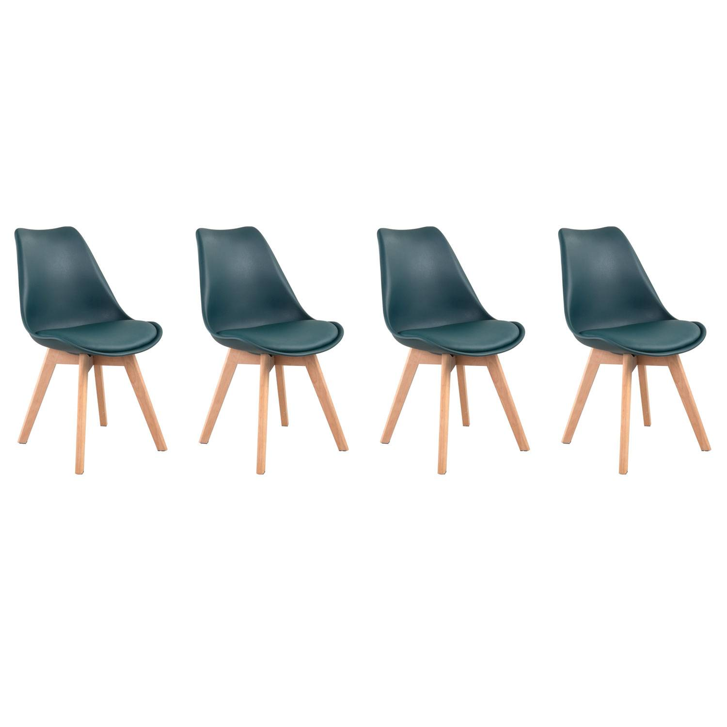 Chaises scandinaves bleues