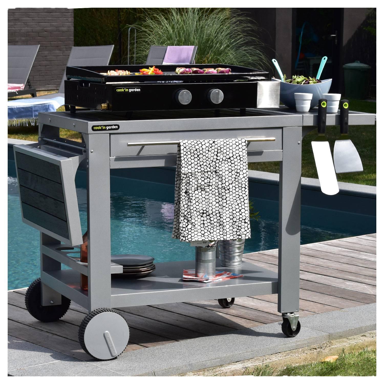 Cook'in Garden - Plancha au gaz Finesta 2B - 2 brûleurs 5kW