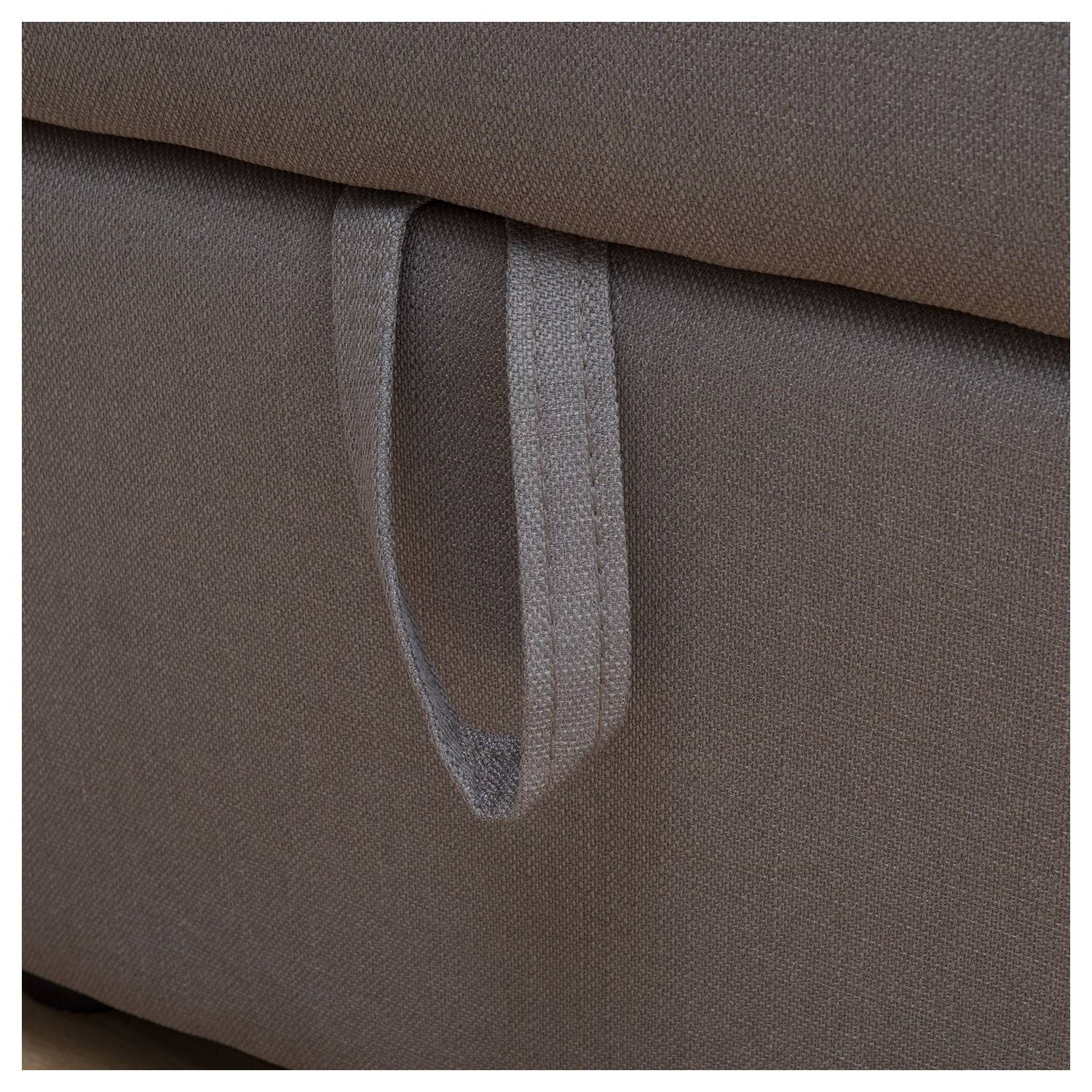Canapé d'angle convertible CLARK 3 places taupe