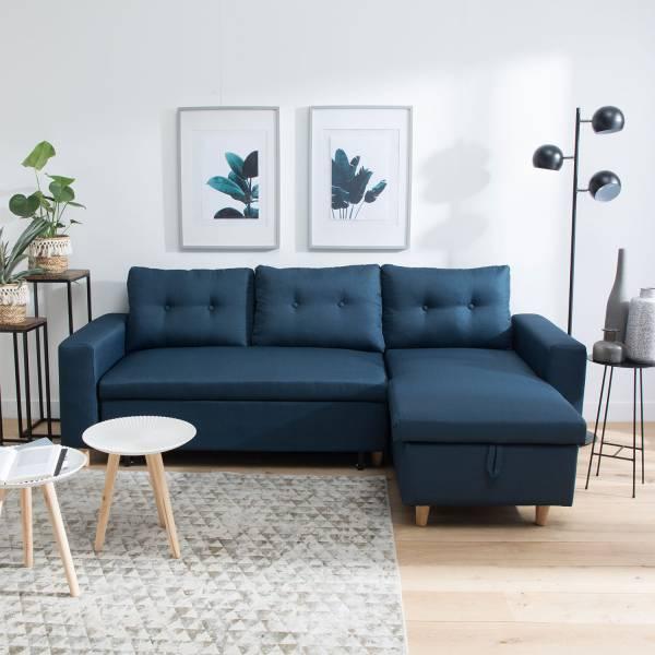 canap convertible scandinave 3 places bleu wade. Black Bedroom Furniture Sets. Home Design Ideas