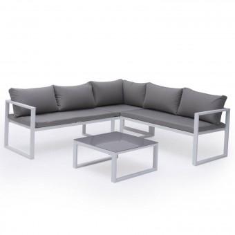 salon de jardin aluminium, textilène - Happy Garden