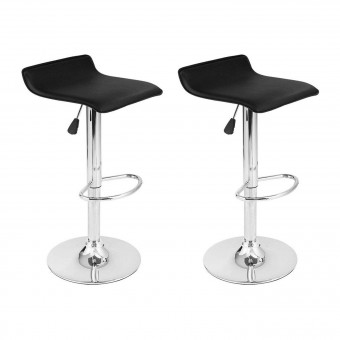 Lot de 2 tabourets de bar noir EDDY