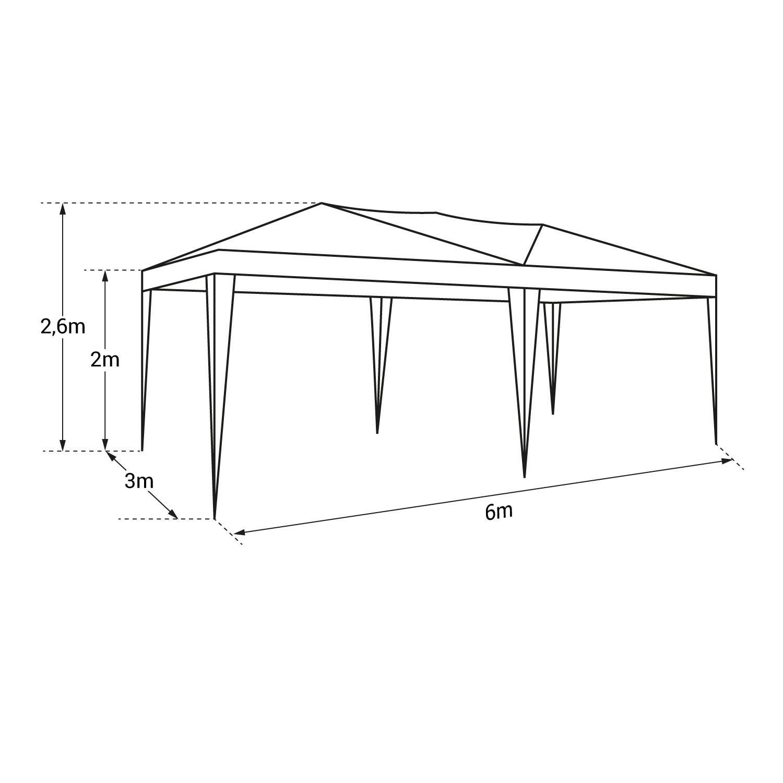Tente de réception ZEPHYR pliante 3x6m Beige