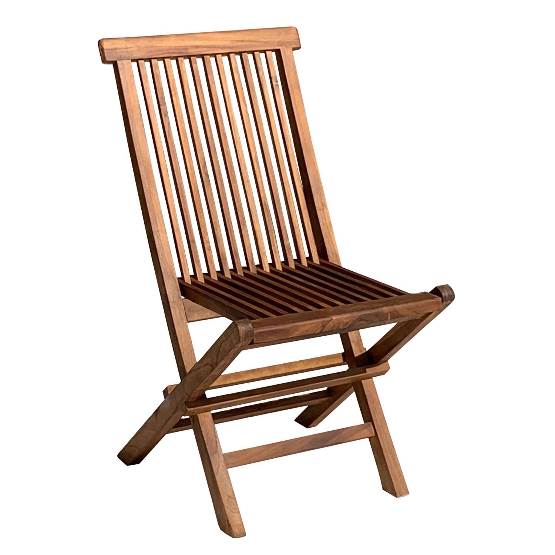 Lot de 2 chaises de jardin en teck huilé LOMBOK