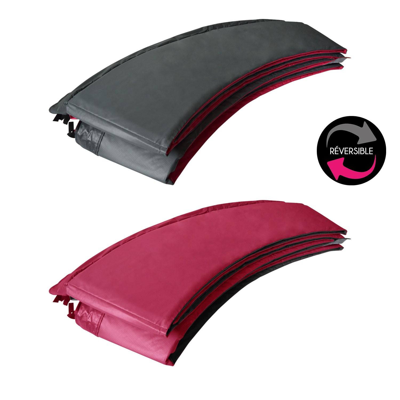 Matelas de protection réversible pour trampoline CANBERRA - gris/rose