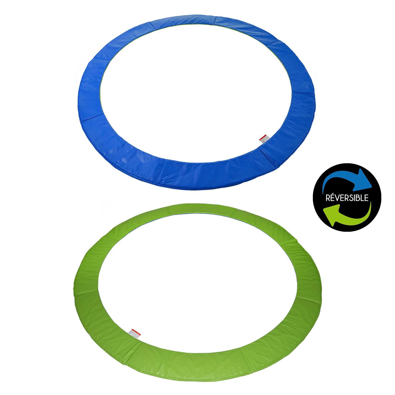 Matelas de protection réversible pour trampoline CANBERRA - vert/bleu