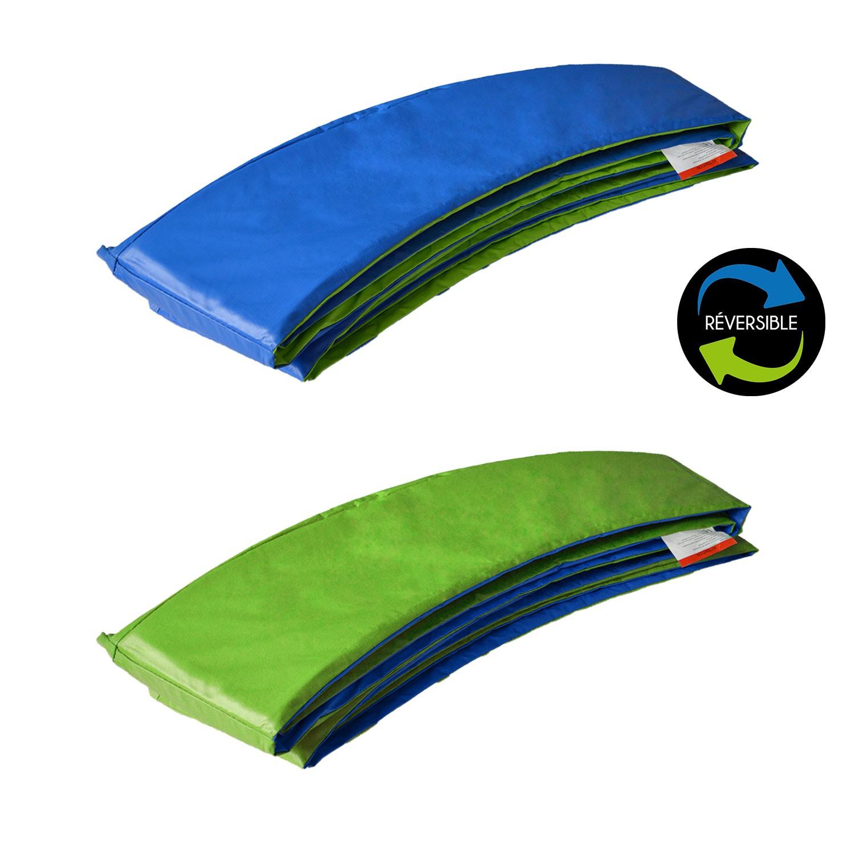 Matelas de protection réversible pour trampoline ADELAÏDE - vert/bleu
