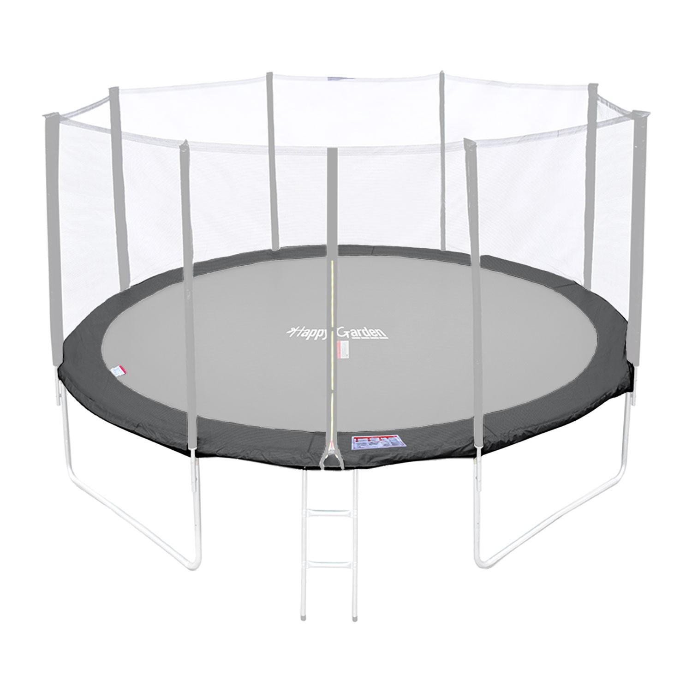 Matelas de protection réversible pour trampoline MELBOURNE - gris/rose