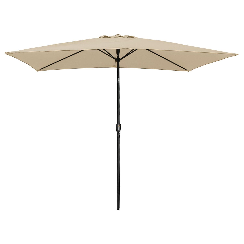 Parasol droit HAPUNA rectangulaire 2x3m beige