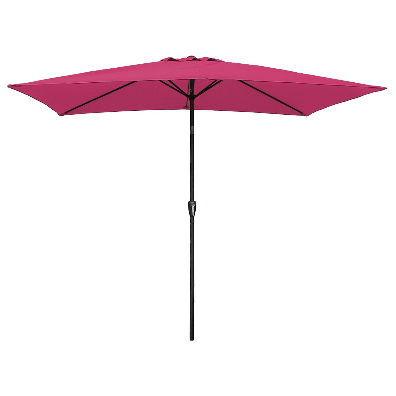 Parasol droit HAPUNA rectangulaire 2x3m fuchsia