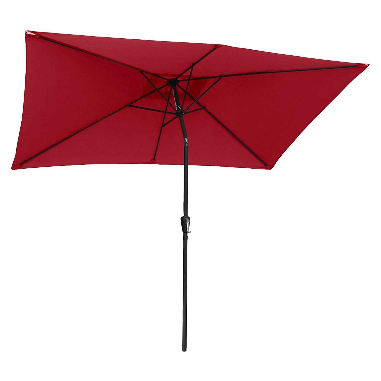 Parasol droit HAPUNA rectangulaire 2x3m rouge