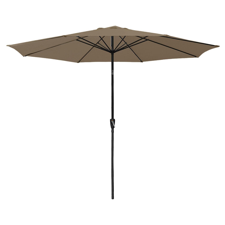 Parasol droit HAPUNA rond 3,30m de diamètre taupe