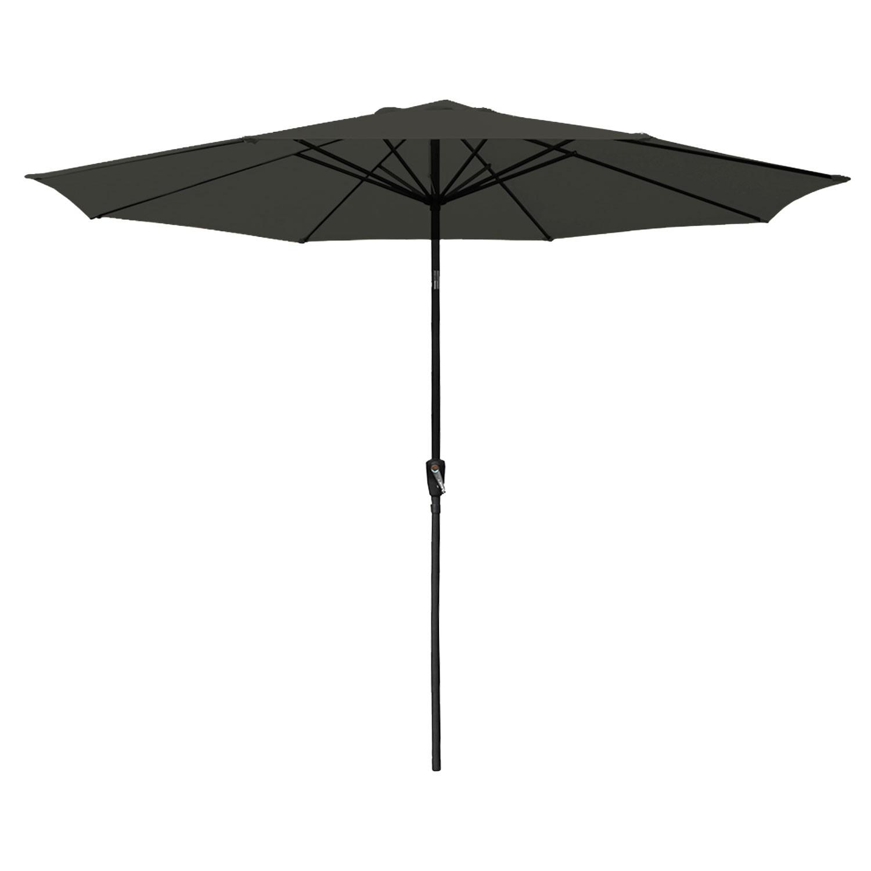 Parasol droit HAPUNA rond 3,30m de diamètre gris