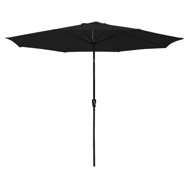 Parasol droit HAPUNA rond 3,30m de diamètre noir