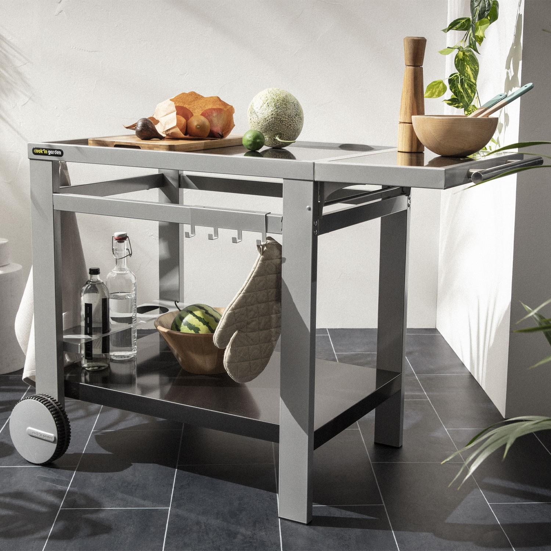 Cook'in Garden - Desserte en métal pour plancha MÉDIA L
