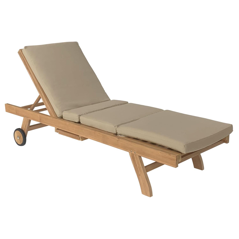 Coussin pour bain de soleil 200x60cm taupe