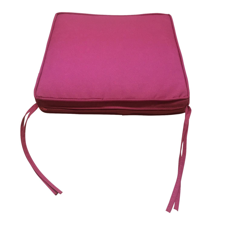 Lot de 4 coussins de chaise carré 40x40cm fuchsia
