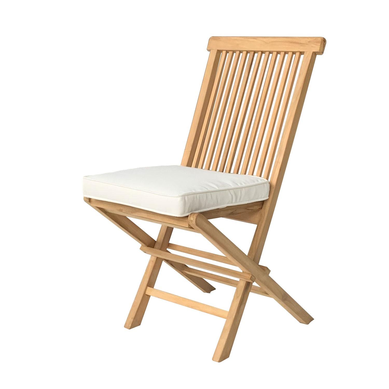 Lot de 8 coussins de chaise carré 40x40cm beige
