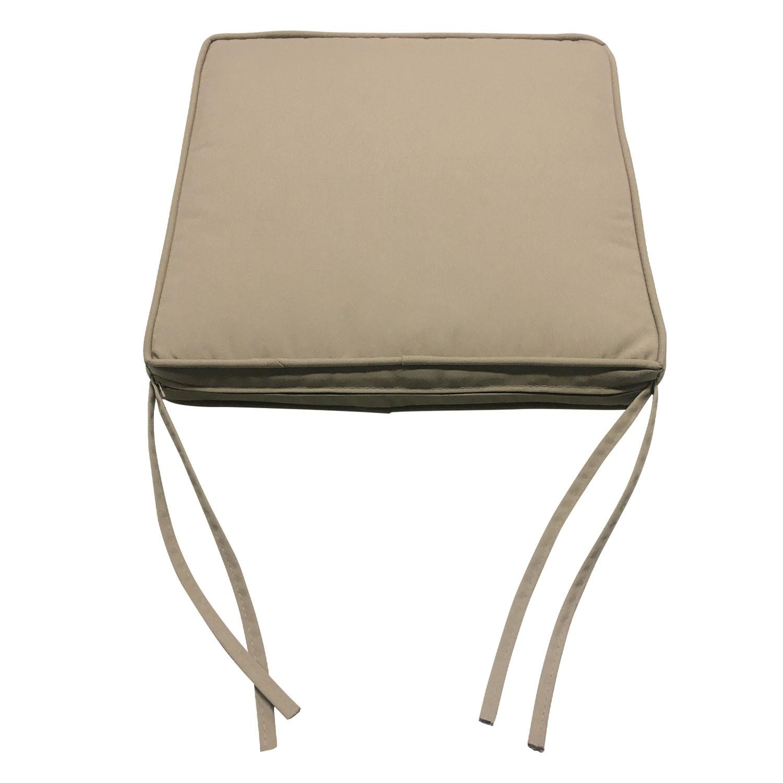 Lot de 8 coussins de chaise carré 40x40cm taupe