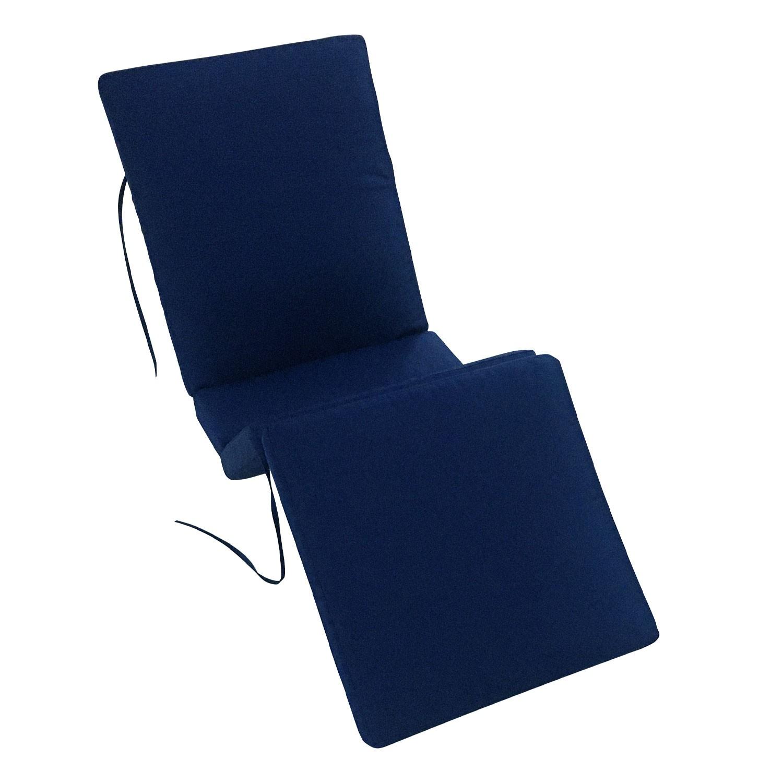Lot de 2 coussins de bain de soleil bleus 200 × 60cm