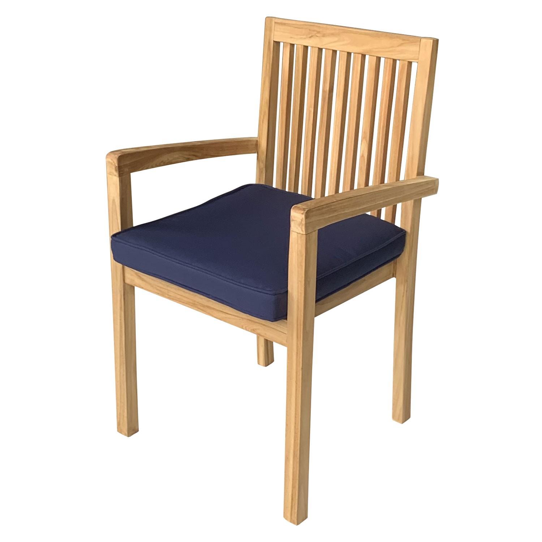 Lot de 4 coussins pour chaise carré 46x46cm bleu
