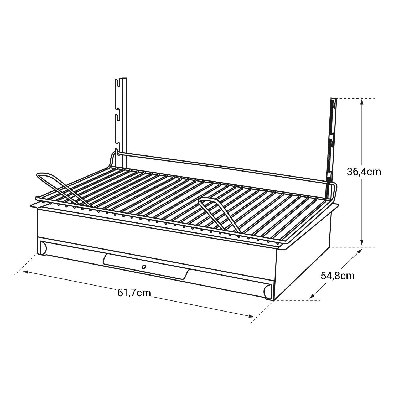 Le Marquier - Barbecue au charbon de bois VULCAIN 61 × 33