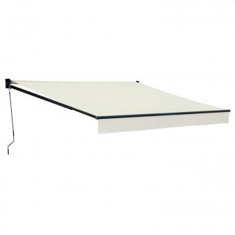 Store banne SAULE 3,5 × 3m - Toile beige et structure grise