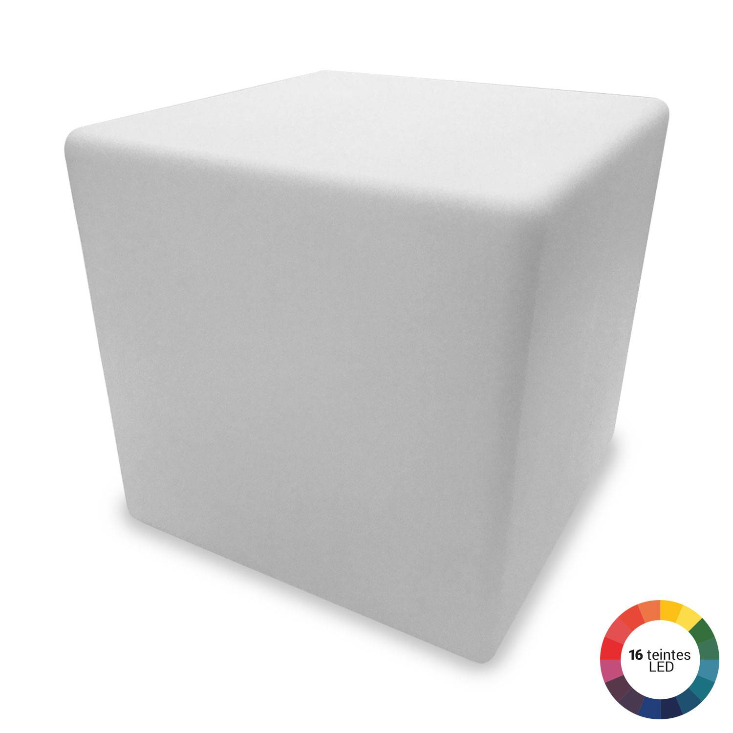 Cube lumineux LED 40cm multicolore NAOS