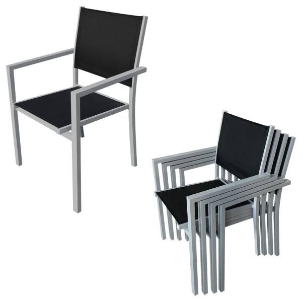 salon de jardin en textil ne noir 8 places bari. Black Bedroom Furniture Sets. Home Design Ideas