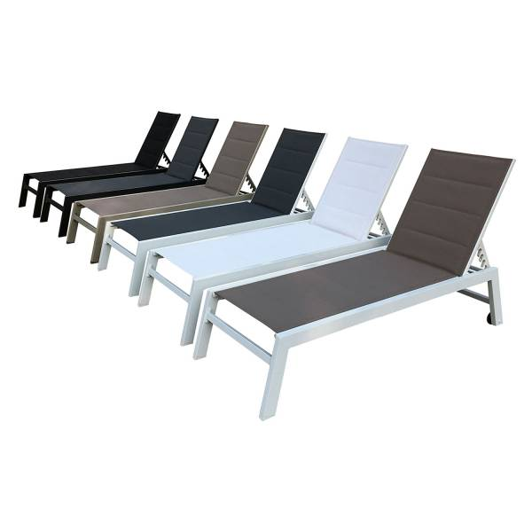 bain de soleil alu et textil ne blanc barbados happy garden. Black Bedroom Furniture Sets. Home Design Ideas