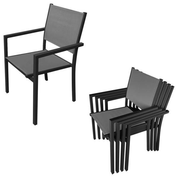 salon de jardin en textil ne gris 8 places alu anthracite. Black Bedroom Furniture Sets. Home Design Ideas
