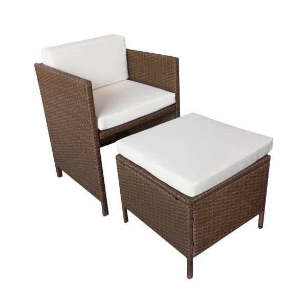 salon de jardin r sine tress e encastrable marron 8 personnes. Black Bedroom Furniture Sets. Home Design Ideas
