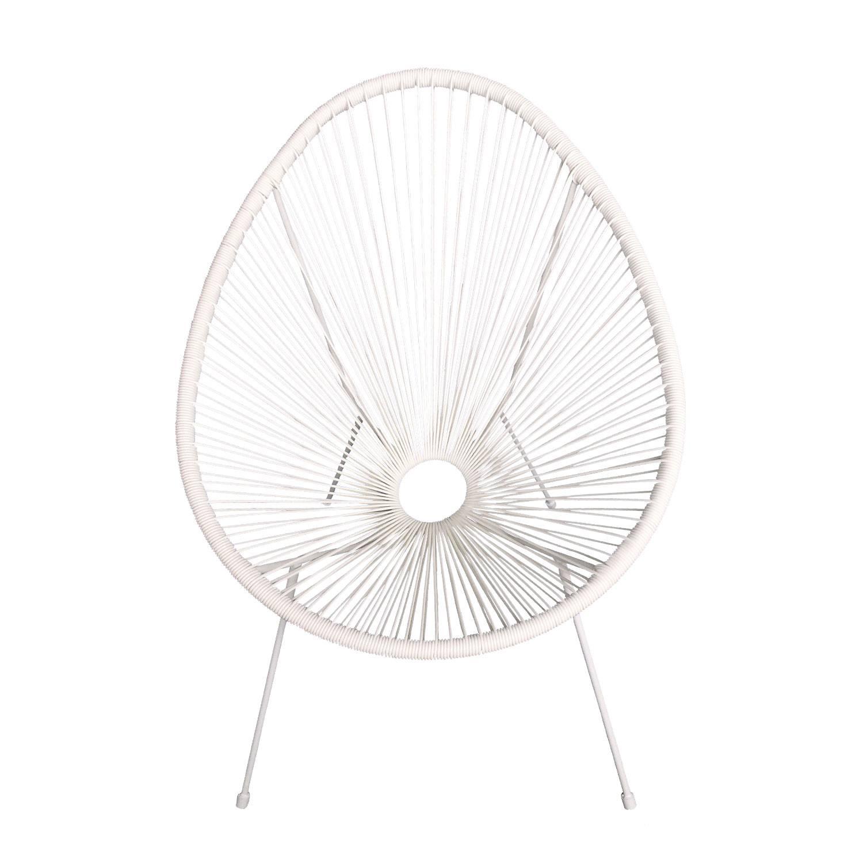 Lot de 2 fauteuils oeuf ACAPULCO blanc