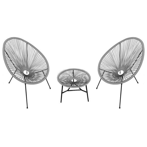 fauteuil acapulco fuchsia avec table