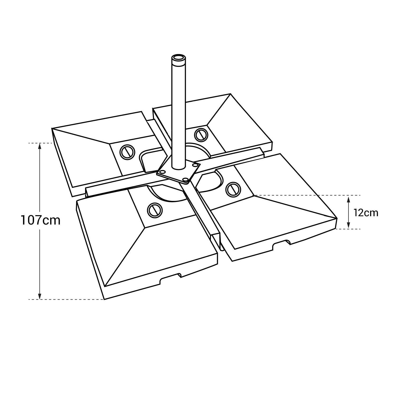Lot de 4 dalles carrées CROZON