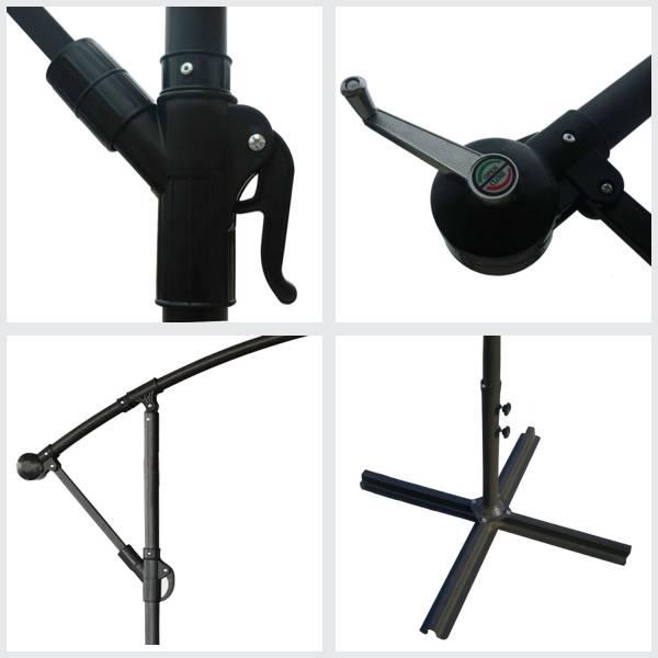 parasol d port inclinable rond 3x3 fuchsia housse. Black Bedroom Furniture Sets. Home Design Ideas