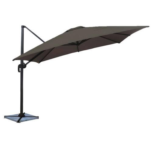 Parasol déporté MOLOKAI carré 3x3m gris